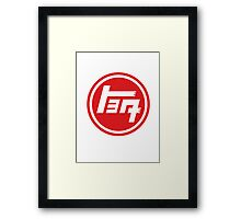 Toyota Emblem, Retro Framed Print
