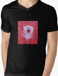 Owl Love Mens V-Neck T-Shirt
