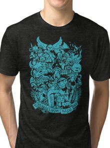 Old Friends - Blue Tri-blend T-Shirt