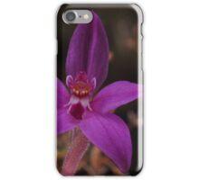 pink fairie orchid Caladenia latifolia iPhone Case/Skin