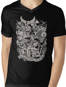 Old Friends - Tan Mens V-Neck T-Shirt