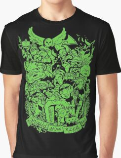Old Friends - Green Graphic T-Shirt