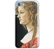 Botticelli -  Portrait Of Simonetta Vespucci  iPhone Case/Skin