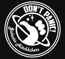 Galactic Hitchhikers Classic White Logo by Zaxley-Nash