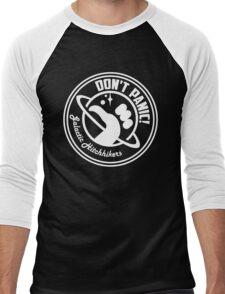 Galactic Hitchhikers Classic White Logo Men's Baseball ¾ T-Shirt
