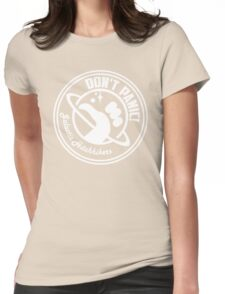 Galactic Hitchhikers Classic White Logo Womens Fitted T-Shirt