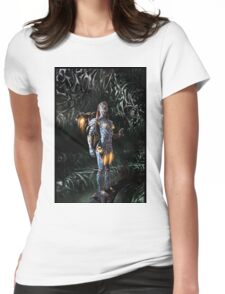 Robot Angel Painting 023 Womens Fitted T-Shirt