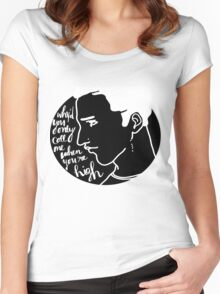 Arctic Monkeys Lyric Graphic Women's Fitted Scoop T-Shirt