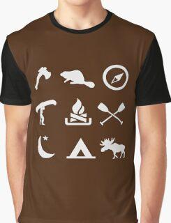 Camping Canoe Trip Graphic T-Shirt