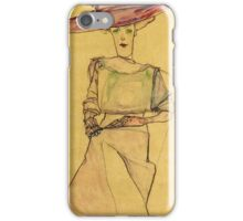 Egon Schiele - Portrait Of Madame Dr Horak 1910 iPhone Case/Skin