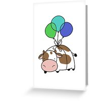 Balloon Cow Greeting Card