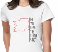 Do you hear the people sing? / Red Flag Womens Fitted T-Shirt