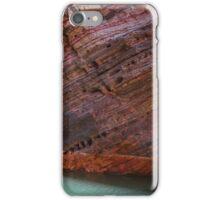 Hamersley Gorge rock strata and water iPhone Case/Skin