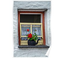 Traditional Cottage Window - Bunratty - County Clare - Ireland Poster