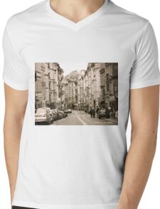 A Street in Paris Mens V-Neck T-Shirt