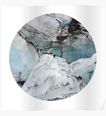 Marble Glacier Circle Poster