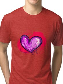 Pink-ish Heart [1] Tri-blend T-Shirt