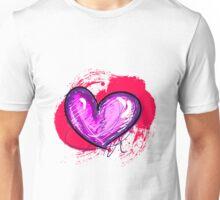 Pink-ish Heart [1] Unisex T-Shirt
