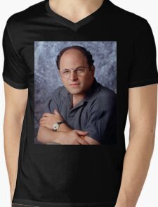 George Costanza Portrait Seinfeld Mens V-Neck T-Shirt