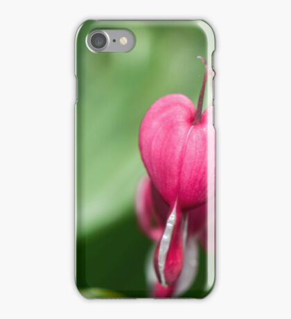 pink flowers broken heart iPhone Case/Skin