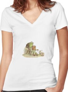 Frog & Toad Women's Fitted V-Neck T-Shirt