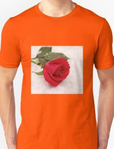 A rose on the snow Unisex T-Shirt