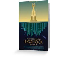 Bioshock Faux Movie Poster Greeting Card