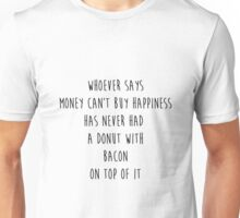 Sarcastic Bacon and Donuts T-shirt and more Unisex T-Shirt