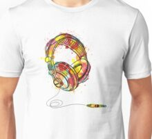 Watercolor Headphones Unisex T-Shirt