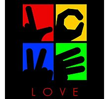 Love Hand Sign Photographic Print