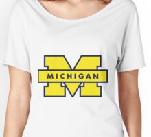 Michigan in Maize and Blue Women's Relaxed Fit T-Shirt