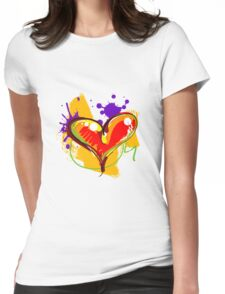 Red-ish Heart [2] Womens Fitted T-Shirt