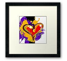 Red-ish Heart [2] Framed Print