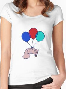 Balloon Squirrel Women's Fitted Scoop T-Shirt