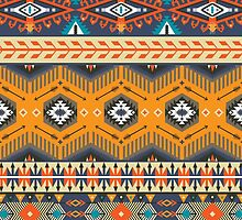 Ethnic print vector pattern background by Olena Syerozhym