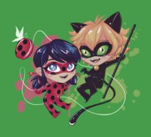 Chibi Time! Ladybug & Cat Noir Baby Tee