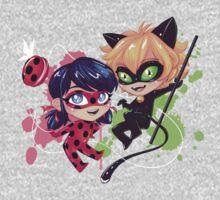 Chibi Time! Ladybug & Cat Noir One Piece - Long Sleeve
