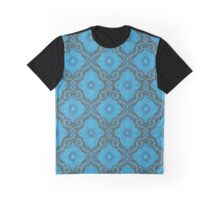 """Palatial floral"", bohemian floral in gray and blue colors Graphic T-Shirt"