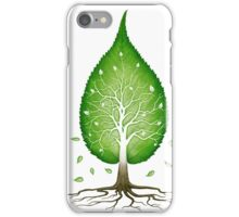 Green leaf shaped tree nature fractals concept art photo print iPhone Case/Skin