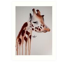 Watercolour Giraffe Art Print
