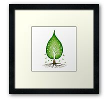 Green leaf shaped tree nature fractals concept art photo print Framed Print