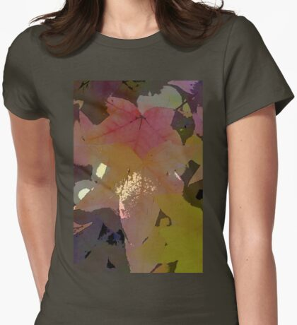 Leaves 8 Womens Fitted T-Shirt