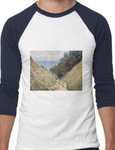 Claude Monet - Road at La Cavee, Pourville (1882)  Men's Baseball ¾ T-Shirt
