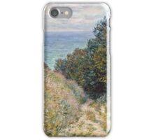 Claude Monet - Road at La Cavee, Pourville (1882)  iPhone Case/Skin