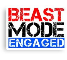Beast Mode Engaged - Gym Phrase (Multicoloured) Canvas Print