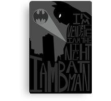 Batman Typography Poster Canvas Print