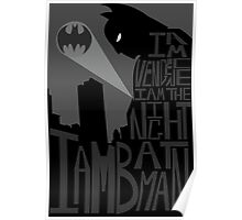 Batman Typography Poster Poster