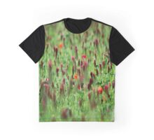 Poppies in the Field Graphic T-Shirt