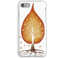 Red leaf shaped tree nature fractals concept art photo print iPhone Case/Skin