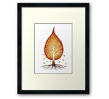 Red leaf shaped tree nature fractals concept art photo print Framed Print